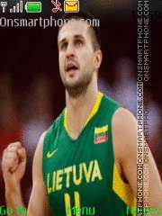 Lithuania Basketball theme screenshot