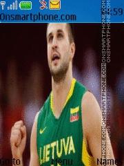 Lithuania Basketball theme screenshot