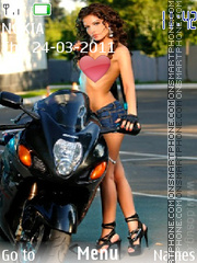 Moto girl 01 theme screenshot