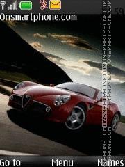 Alfa Romeo 8C Competizione theme screenshot