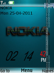 Nokia Calendar 01 theme screenshot
