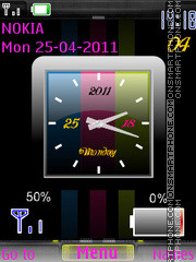 Analog Colors Clock Battery es el tema de pantalla