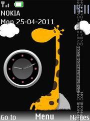 Giraffe Clock theme screenshot