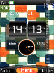 Htc Blocks Clock theme screenshot