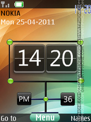 New Style Clock 01 theme screenshot