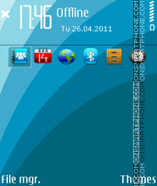 Astro Blue E-Series theme screenshot