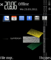 Deep dark symbian by m_onsoon theme screenshot