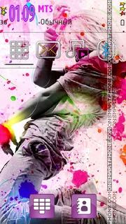 Dance Colors tema screenshot