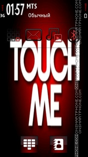 Touch Me theme screenshot