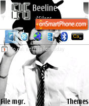 Stylish Boy theme screenshot