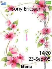 Capture d'écran Flower Clock 07 thème