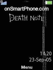 Capture d'écran Death Note L 01 thème