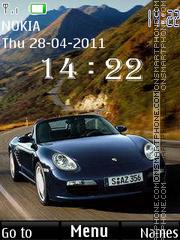Porsche Clock 02 theme screenshot