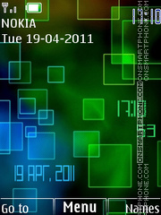 Neon Glow Clock theme screenshot