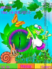 Swf Coloreful Frog tema screenshot