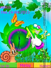 Swf Coloreful Frog Theme-Screenshot