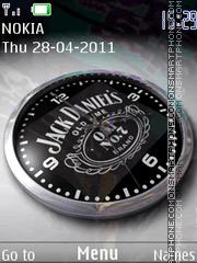 Скриншот темы Jack Daniels Clock