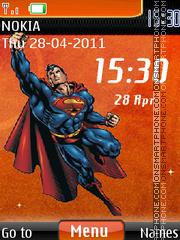 Superman Clock theme screenshot