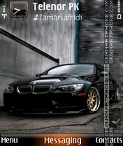 Neon Bmw M3 theme screenshot
