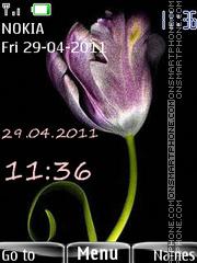 Pink tulip theme screenshot