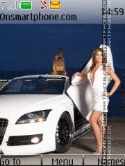 White Audi R8 theme screenshot