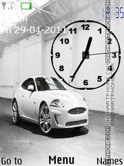 Jaguar XKR Clock theme screenshot