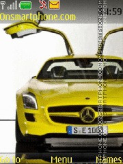 Mercedes SLS AMG E-cell theme screenshot