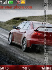Mitsubishi Lancer Evolution X theme screenshot