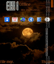 Moon 07 tema screenshot