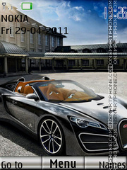Bugatti With ringtone theme screenshot