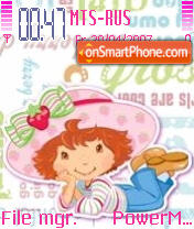 Strawberry Shortcake es el tema de pantalla