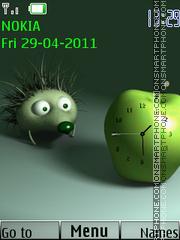 Hedgehog Clock tema screenshot