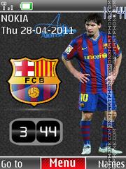 Messi Clock 01 theme screenshot