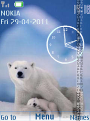 White Bear Clock theme screenshot