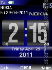 Nokia New Style Clock theme screenshot