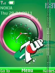 7up Clock and Icons theme screenshot