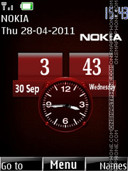 Nokia Dual Clock 03 tema screenshot