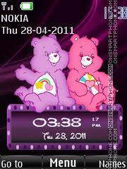 Cute Teddy Clock theme screenshot