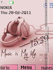 Swf Music Life theme screenshot