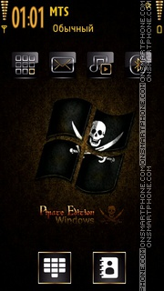 Pirate Windows es el tema de pantalla