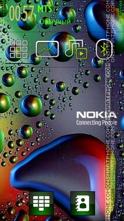 Nokia Bubbles theme screenshot
