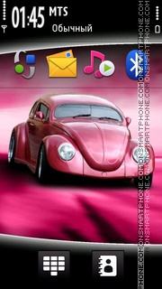 Pink Car 01 tema screenshot