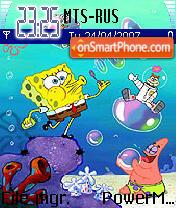Скриншот темы SpongeBob