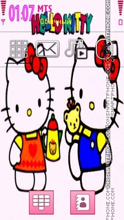 Hellokitty cartoon theme screenshot