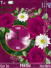 Flower clock theme screenshot