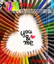 U And Me Animated theme screenshot