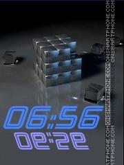 Скриншот темы Cube swf