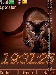 Скриншот темы Choco cat swf