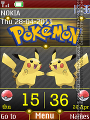 3d Pikachu Clock theme screenshot
