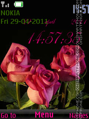 Rose Clock 01 tema screenshot